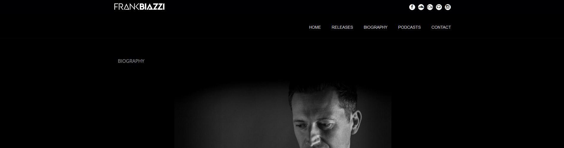 Site de Frank Biazzi DJ & producteur techno