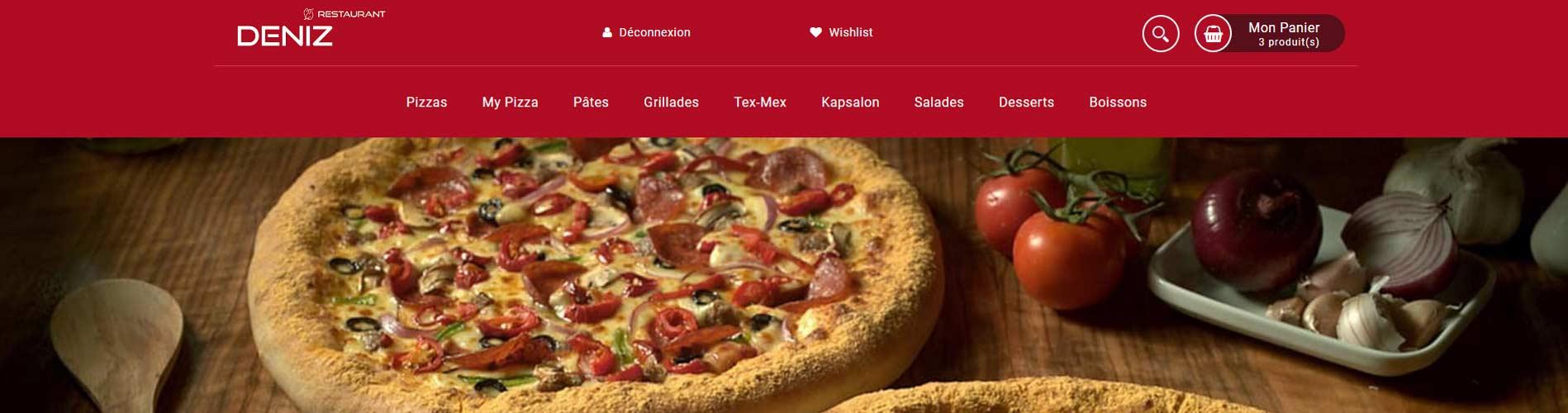 Vente en ligne et livraison de pizza à Roubaix